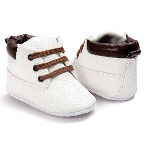 Saingace® Toddler semelle souple chaussures en cuir bébé garçon chaussures fille tout-petits,0-18mois (11)
