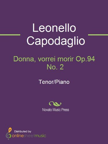 Donna, vorrei morir Op.94 No. 2 - Score