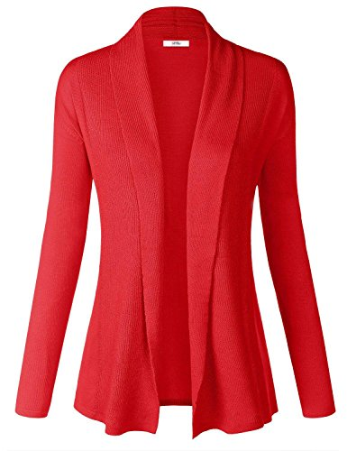 Women Soft Long Sleeve Open Front Cardigan Sweater