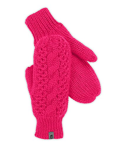 The North Face Women's Cable Knit Mitt Cerise Pink L/XL