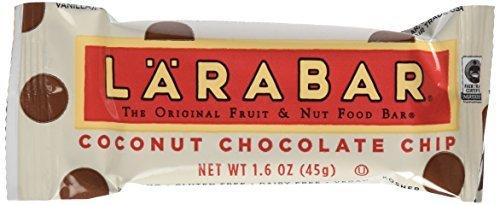 "Larabar Gluten Free Snack Bars, Coconut Chocolate Chip, 1.6 Ounce Bars (16 Count) by LÃ""RABAR"