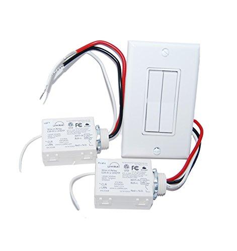 Price comparison product image Wireless Light Switch Kit - Dual Rocker Switch & 2 Relays - Illumra E3K-I12WH