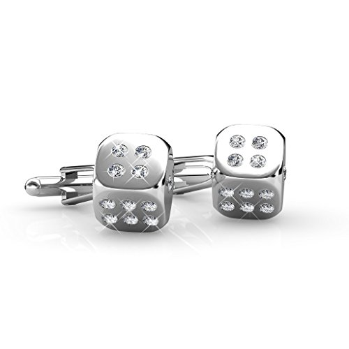 Dice Cufflink - Crystals from Swarovski