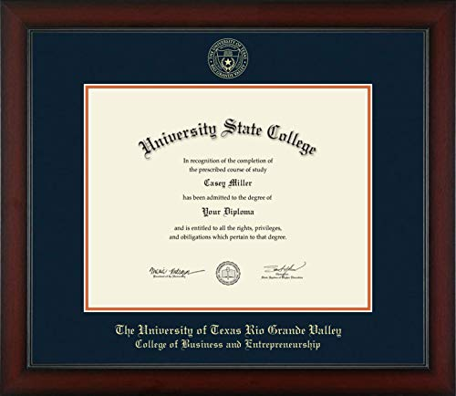 The University of Texas Rio Grande Valley College of Business and Entrepreneurship - Officially Licensed - Gold Embossed Diploma Frame - Diploma Size 14