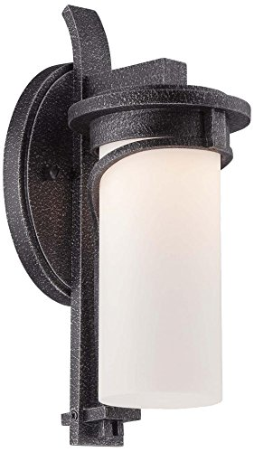 Minka Lavery 8151-568-L Holbrook LED Outdoor Lantern, Forged Stone Silver Finish