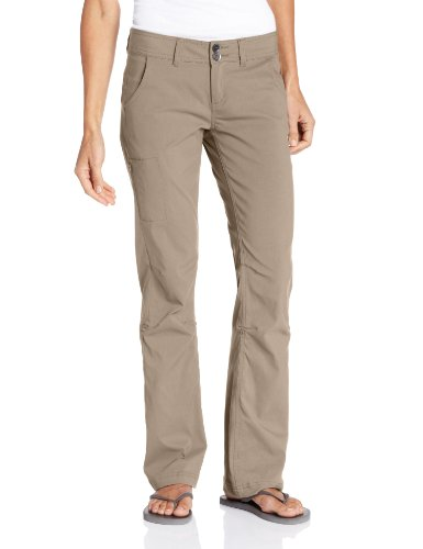 prAna Women's Halle Regular Inseam Pant, Dark Khaki, 8