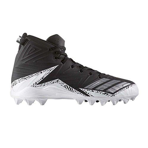adidas Originals Men's Freak X Carbon Mid Football Shoe, Black/Metallic Silver/White, 10 Medium US
