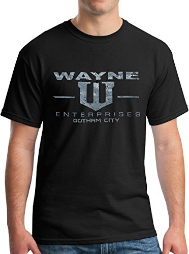 Batman Products : Wayne Enterprises T-Shirt - Vintage Metallic Silver Print