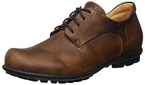 Think Kong_282997, Scarpe Stringate Brouge Uomo Marrone (Cafe/Kombi 48)
