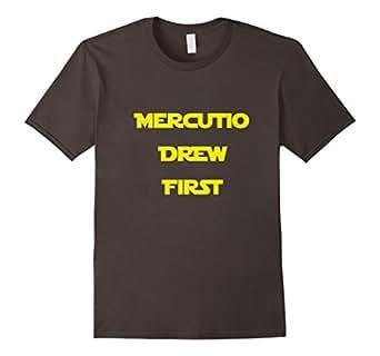 Mens Mercutio Drew First Shakespeare T Shirt 3XL Asphalt