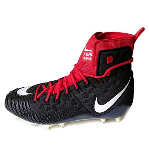 Nike Men's Force Savage Elite TD Football Cleat (10.5 M US, Black/Red/White)