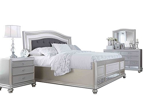 Ashley Coralayne 4PC Bedroom Set E King Upholstered Bed One