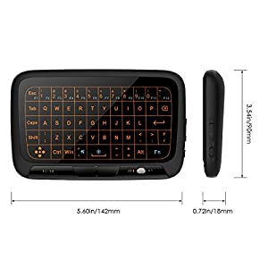 Mini Keyboard Touchpad, 7Lucky Backlit 2.4G USB Wireless Touch Keyboard Mouse : Rechargeable Remote Control for Android TV Box, HTPC, IPTV, PC, Laptop, Raspberry Pi 3, Surface Pro, Nvidia Shield TV