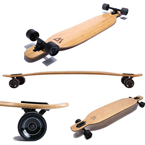 (Magneto Longboards - Bamboo & Fiberglass Drop Through Longboard Cruiser)
