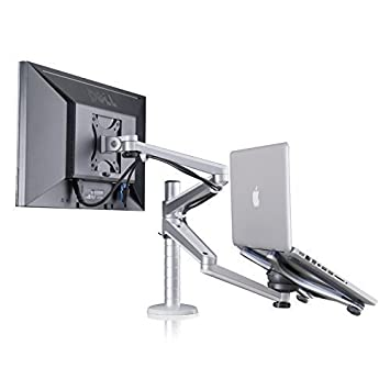 Fabulous Adjustable Aluminium Universal Laptop Notebook Computer Monitor Stand Desk Mount Bracket Clamp Tilt Swivel Dual Arm Support Holder Laptop Home Interior And Landscaping Mentranervesignezvosmurscom