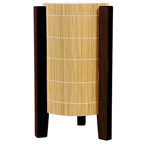 Oriental Furniture 13'' Kago Lamp - Walnut by ORIENTAL FURNITURE
