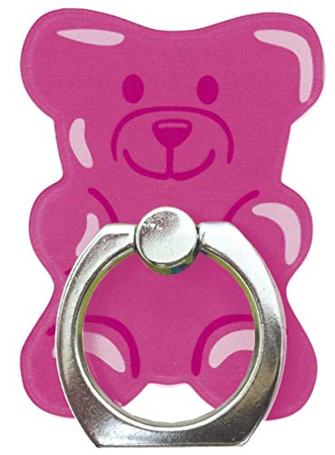 iscream Sweetest Gummy Bear Adhesive Backed Cell Phone Ring and Hands Free Stand