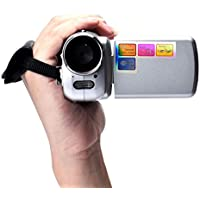 Kwok 1.8 Inch TFT 4X Digital Zoom Mini Video Camera (Kwok Photography series) (Silver)