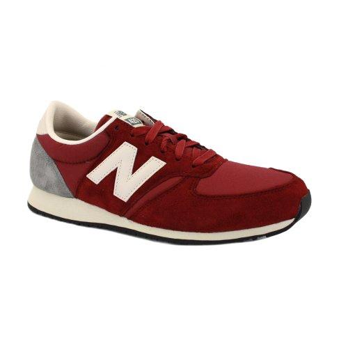 New Balance 420 U420SRDR Zapatillas Deportivas de Ante y Nailon para Mujer Burdeos y Blancas - 37?