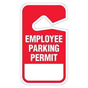 Parking Permit-Employee//RED Pack of 50 Tags