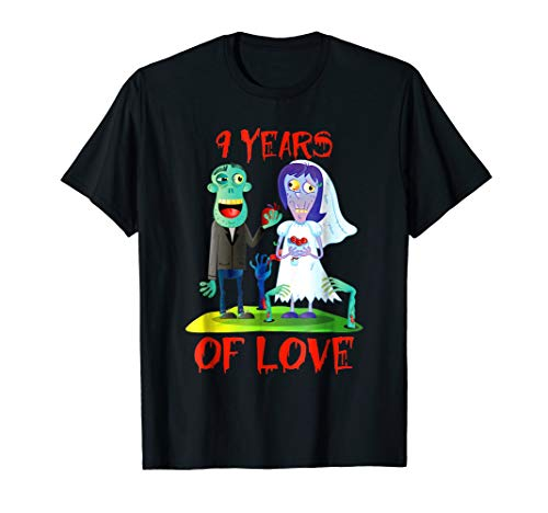 9th Anniversary Gifts. Funny Halloween Shirt For Couple. -