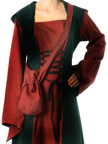Vert Rouge Noir Bleu S coton Rouge en Sac à Beige HEMAD Marron bandoulière médiévale Sac 7xqOv