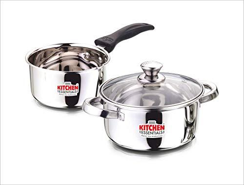 Kitchen Essentials Stainless Steel Cookware Set, White