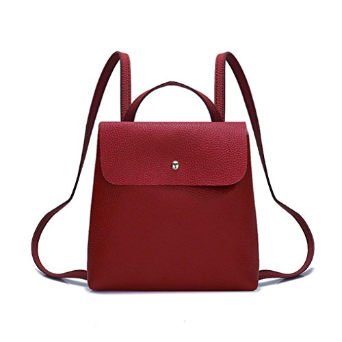 - Pocciol Lady Girl Love Backpack, 2018 Newly Womens Leather Mini School Bag Backpack Travel Shoulder Bagoft Trave Shoulder Bag School Bag (Red)