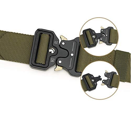 HeroStore Wide 4.3cm Nylon Metal Tactical Gear Heavy Duty Belts Padded Patrol Waist Outdoor Hiking Climbing Hunting Load Bearing Belt 20 by HeroStore (Image #4)