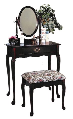 Cool Cherry Wood Vanity With Table Bench Set Squirreltailoven Fun Painted Chair Ideas Images Squirreltailovenorg