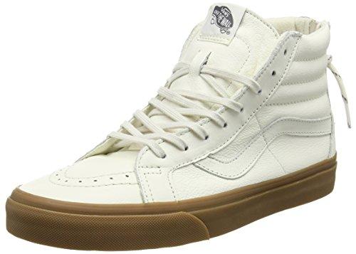 Vans Mens Reissue Zip En Cuir À Lacets Haut Haut Sneakers Blanc 7 Moyen (d)