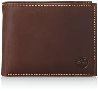 Timberland Men's Pull-Up Passcase Wallets, Brown, One Size