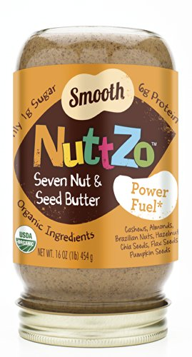 Nuttzo Organic 7 Nut and Seed Butter, Smooth, 16 Ounce (Pack of 6) by Nuttzo