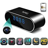 Hidden Camera,Auhko Spy Camera in Clock WiFi hidden Cameras 1080P Video Recorder Wireless IP Camera for Indoor Home Security Monitoring Nanny Cam 140°Angle Night Vision Motion Detection