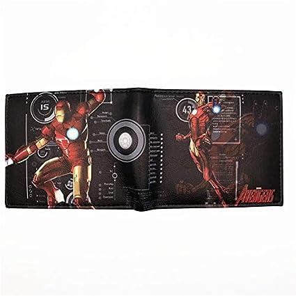 SWVV Billetera Anime Heroes Iron Man Capitán América Escudo Hombre araña Hombre Hormiga Castigador Veneno Carteras