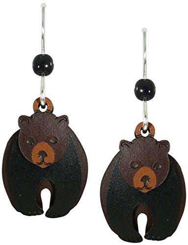 Sienna Sky Three Part Black Bear Earrings - Earrings Bear