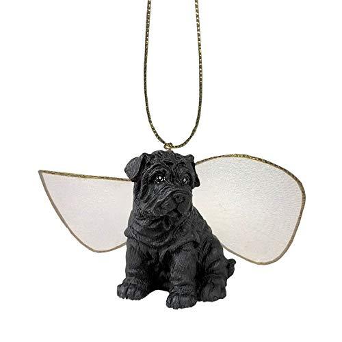 (ForPetLovers Small Black Shar Pei Angel Figurine)