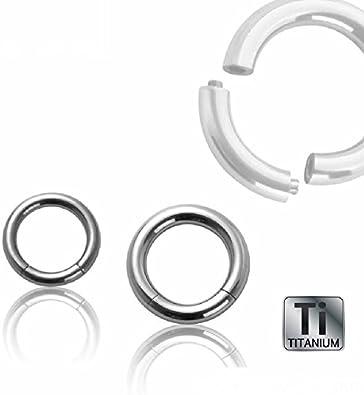 10-100 TITAN Piercing Mix Paket Hufeisen Segmentring Spirale Ring Großhandel