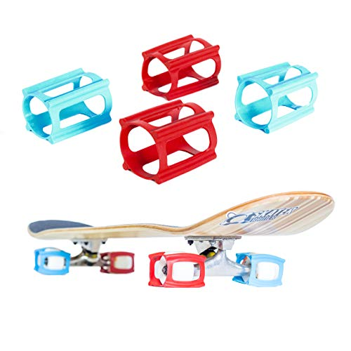 (Skater Trainers | Limited Edition Colors | Patented Accessories for Skateboards Wheels (Combo Neon Blue/Red Set))