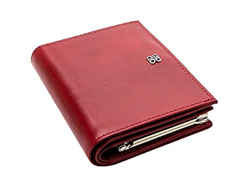 - Bosca Old Leather Women's Petite French Purse (Red)