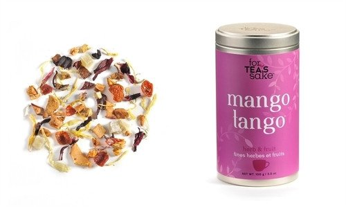 For Tea's Sake Mango Tango Fruit Tea 100g 3.5 Ounce