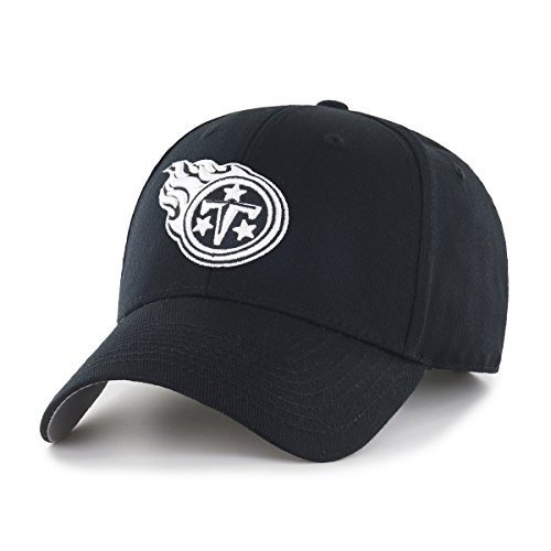 OTS NFL Tennessee Titans All-Star Adjustable Hat, Black & White, One -