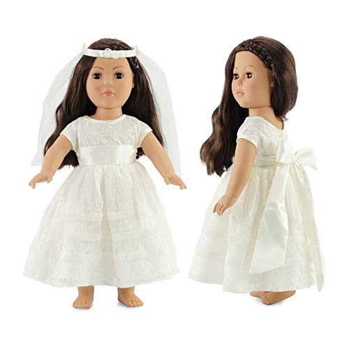 (18 Inch Doll Bridal Gown | Doll Communion Dress or Wedding | Fits 18