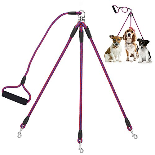 COCOPET [NEW VERSION] Heavy Duty Sturdy 3 Way Nylon No Tangle Dog Pet Leash with Sponge Handle - Fit for Small and Medium Dogs Walking by COCOPET