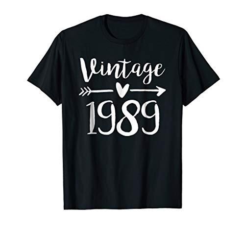 Vintage 1989 Cute Birthday Women Gift 30th Birthday Shirt