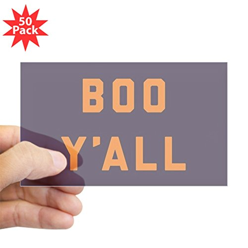 CafePress - Boo Y'all - Sticker (Rectangle 50 pk)