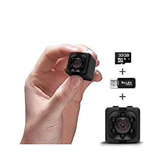 Cop Cam | Mini Camera 1080P | Wearable Body Action Cam for Indoor/Outdoor, Home, Office, Car, Nanny | Wireless Security Camera | Night Vision | Motion Detection | 32GB Memory | Built-in Battery
