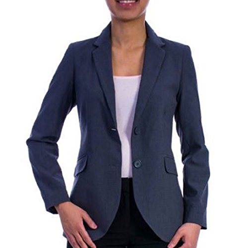 George+Women%27s+Classic+Career+Suiting+Blazer%2C+Grey+Heather%2C+Size+8