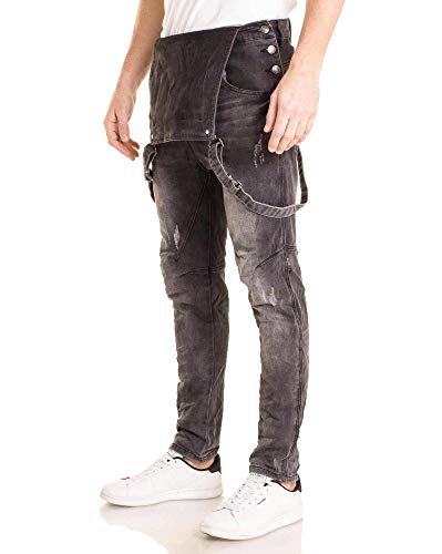 Slim Nero Unita Tinta 40 Jeans Uomo Blz A5wgXFq7