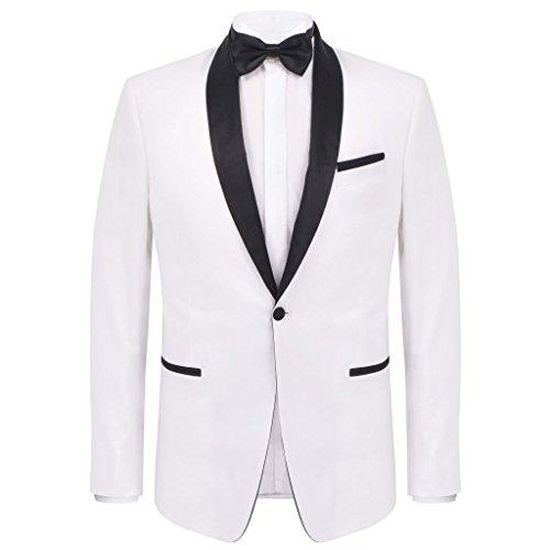 2 Cerimonia Taglia Pezzi 52 Taglia Colore E Bello A Da Smoking Semplice Uomo vestito Xingshuoonline Bianco Bianco Y4EFx